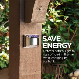 2pcs solar outdoor stair light