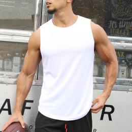 Men's solid color casual breathable sports vest
