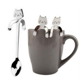 Cute Cartoon Cat Stainless Steel Handle Hanging Spoon