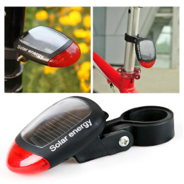 Solar Energy Bicycle Rear Light Red Led Seatpost Tail Lights