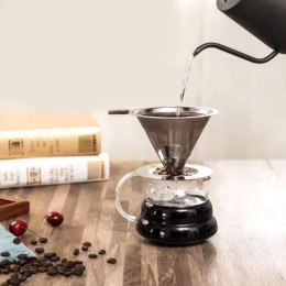 Stainless steel hand brewed coffee filter