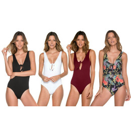 One Piece Swimsuit Sexy Lady Siamese Knot Swimsuit