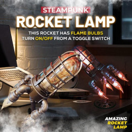 Steampunk Rocket Light