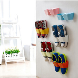 Stereoscopic wall hung shoe rack