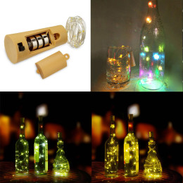 Bottle stopper string lights