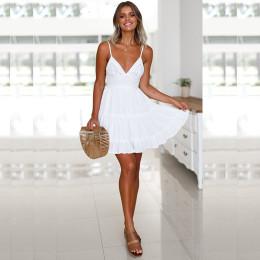 Lace sling stitching women dress