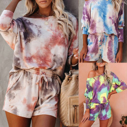 Women's summer loose printing home casual suit