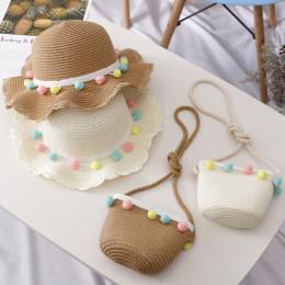 Children's sunshade beach hat bag set