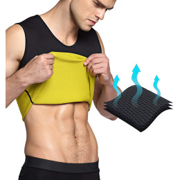 Men's Hot Sweat Body Shaper Tummy Fat Burner Tank Top