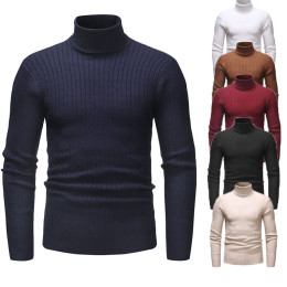 Men's Winter Warm Slim Striped Sweater
