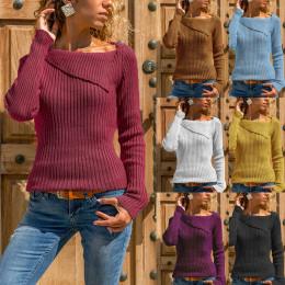 Women's Basic Slim Pullover Sweater