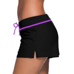 Women's Swimwear Boxer Shorts Solid Beachwear