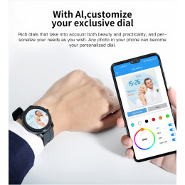 T6 Full touch round screen smart watch