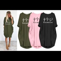 Women's Faith Hope & Love Casual Dress