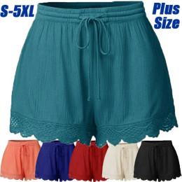 Pants women's solid color lace shorts casual pants