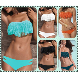 Tassel Bra Women Sexy Bikini Swimsuits