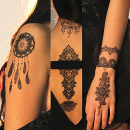 Temporary Black Lace Tattoos
