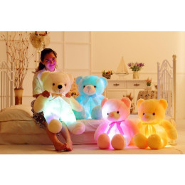 Creative Light Up LED Inductive Teddy Bear  Plush Toy