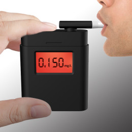 Digital Breath Alcohol Tester with 4 mouthpieces