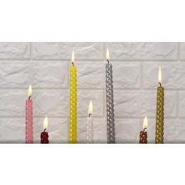 Long rod threaded long rod candle