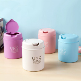 Home Mini Table Garbage Bin -Snap Lid