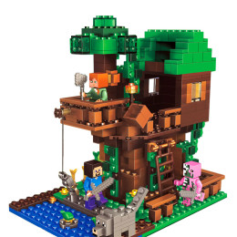 My World series MINI Tree House Building Blocks Mini Figures Bricks Gift Toys