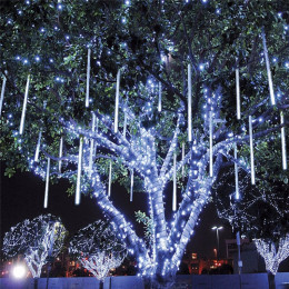 8pcs/Set 30CM Meteor Shower Rain Tubes AC 110-240V Christmas String Light Garden Wedding Party Holiday Tree Decor