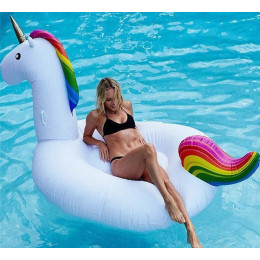 Inflatable Unicorn Float Pool Toy Swimming Float