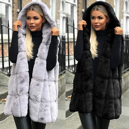 Women Winter Fluffy Plush Vest