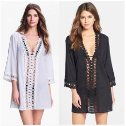 Hollow beach dress bikini blouse