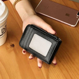RFID-protected leather wallet