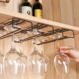 Hanging wine glass holder