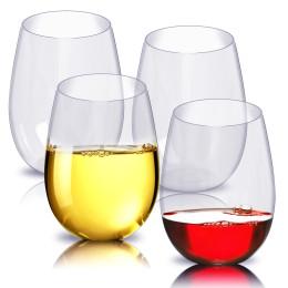4pcs/Set Shatterproof Wine Glasses
