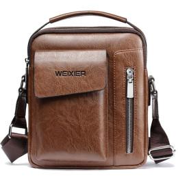 Vintage Messenger Bag Men Shoulder Bags Pu Leather Crossbody Bags
