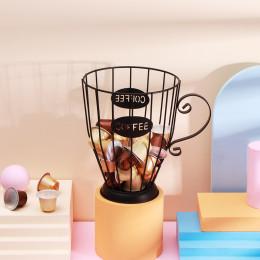 Wire candle holder storage basket