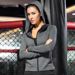 women zipper coat hoodie quick dry clothes