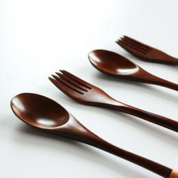 Wooden spoon fork chopsticks three-piece set