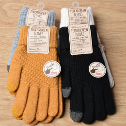 Women's Cashmere wool Knitted Gloves Winter Warm thick touch screen gloves