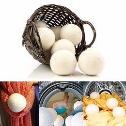 6pcs/pack Laundry Clean Ball Reusable Natural Organic Laundry Fabric Softener Ball Premium Organic Wool Dryer Balls lavar sutia
