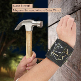 Magnetic Wrist Band for Holding Screws