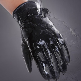 Touchscreen Gloves Leather Mens Waterproof Winter Warm Thermal Gloves