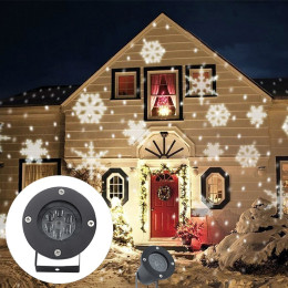 Christmas Outdoor Snowflake LED Stage Snow Lights Waterproof Light