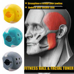 Food-grade Silica Gel JawLine Exercise Ball Facial Muscle Trainin Fitness Ball Neck Face Toning Jawrsize Jaw Muscle Training