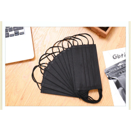 10/50/100 disposable pces non-woven protective mask 3 layers filter anti dust smog breathable gauze mask  black adult face mouth masks